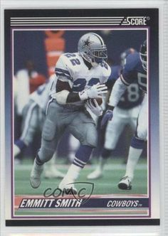 Emmitt Smith RC (Rookie Card) Dallas Cowboys (Football Card) 1990 Score Supplemental #101T by Score Supplemental. $60.00. 1990 Score Supplemental #101T - Emmitt Smith RC (Rookie Card)