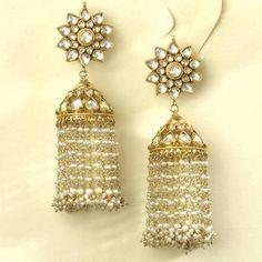 kundan style chandelier earrings