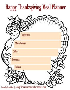 This set of 5 printable Thanksgiving activities and planners includes: A meal planner and several fun, printable activities for the kids to enjoy!