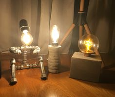 DIY pipe lamp & concrete lamp