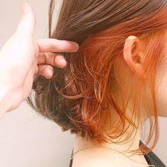Hair Color Streaks, Hair Highlights, Hair Inspo, Hair Inspiration, Hair Color Underneath, Peekaboo Hair, Short Dyed Hair, Dying My Hair, How To Make Hair