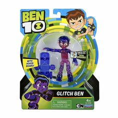 Ben 10 Glitch Ben Figure with Rustbuggy Outfit & Hover Board Glitch, Best Scooter For Kids, Lego Halo, Ben 10 Action Figures, Sonic Party, Sylvester The Cat, 6th Birthday Parties, 4th Birthday, Alien Abduction