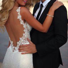 Backless wedding dress Romance