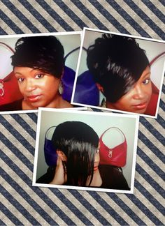 Short Hair Tutorial - How to install Clip Ins/Weave (Short Hair)