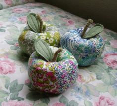 New make: Bright apple pincushions & wedding place settings | Michelle Samuels Design