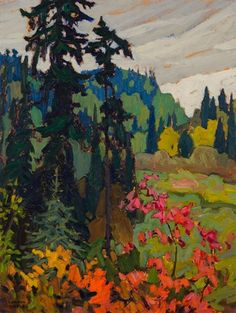 Lawren Harris - Hubert (Algoma Sketch) x Oil on composite wood (c. Canadian Painters, Canadian Artists, Landscape Paintings, Landscapes, Tom Thomson, Group Of Seven, Canoe Trip, The Eighth Day, Art Market
