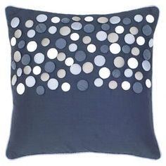 "Inspired by cozy abodes and soothing hues, this beautifully crafted design transforms your home into a well-appointed retreat.   Product: PillowConstruction Material: Fabric and paddingColor: Blue  Dimensions: 18"" x 18"""