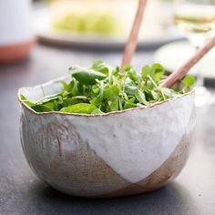 Hand Moulded Deep Salad Bowl
