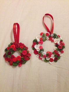 more button wreaths