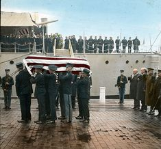 The Unknown Soldier's Arrival in Color (1921) - Ghosts of DC  (click on the picture/link to see the article and short video)