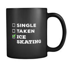 Ice Skating Single, Taken Ice Skating 11oz Black Mug