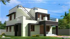 House Design Plans: Modern house design in 1700 sq.feet