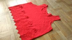 Red Cropped Top, Large Crop Top, Embroidered Crop Top, Textured Crop Top, Red Sleeveles Top, Summer Crop Top, Slouchy Crop Top, Floral Top by VinciBazaar on Etsy Red Crop Top, Cropped Top, Summer Crop Tops, Vintage Ladies, Floral Tops, Clothes For Women, Fishnet, Trending Outfits, Women's Tops