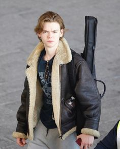 Thomas Brodie-Sangster arrived in Cape Town