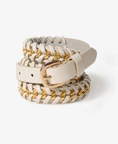 ShopStyle: Forever 21Chain Woven Hip Belt