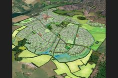 JTP's illustrative masterplan of Chilmington Green where it won approval for a design code