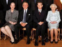 Regina Margareta a II-a a Danemarcei si Regele Mihai I al Romaniei Londra