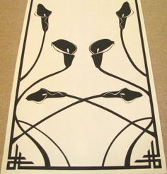 art nouveu calla lily runner by Original Runner Co.   www.originalrunners.com