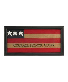 Take a look at this Courage Honor Glory Burlap Wall Art by K Interiors on #zulily today!