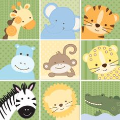 jungle animal prints for nursery - Google Search