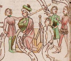 Wolfenbüttel, Herzog August Bibliothek,  Thomasin <Circlaere>   Welscher Gast (W) — Süddeutschland, 3. Viertel des 15. Jhs. Cod. Guelf. 37.19 Aug. 2° Folio 21v