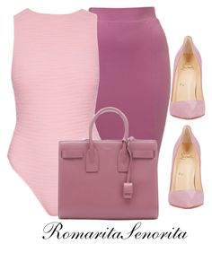 """Berry Part Two"" by romaritasenorita ❤ liked on Polyvore featuring moda, Prism, Yves Saint Laurent y Christian Louboutin"