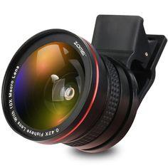 ZOMEI Glory G2 37mm 0.6x Wide Angle 0.42x Fisheye Lens for Smartphone Phone Iphone Huawei HTC
