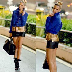 Koton Jacket, Zara Sweater, Pull Shorts, Prada Bag, Bebe Boots