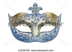 Carnival Mask isolated View Large Illustration