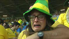 """""""Chorona"""" do 7 a 1 no Jornal Nacional, torcedora se vinga com ouro do Brasil #globoesporte"""