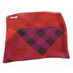 9c65e85b13 $7 Silk Burberry Scarf on EBTH Red Plaid Scarf, Black Plaid, Burberry Scarf,