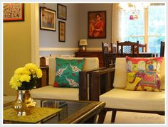 the east coast desi: Blend and Create Style Perfected (Home Tour) Indian Homes, Home And Living, Decor, Creative Home, House Interior, Home Living Room, Home, Indian Home Decor, Home Decor