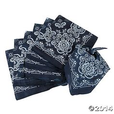 Classic Navy Bandanas for country fair. Can also be used as napkins