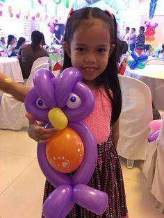 affordable balloon twisting Balloon decor angeles city balloon owl  Contact 0947-893-6701 Breth Entertainment
