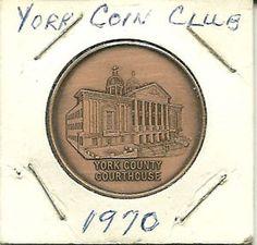 1970-York-Coin-Club-Medal-York-County-Courthouse-Pennsylvania-PA
