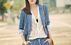 greyson_denim_suit_nordstrom_striped_blouse_1