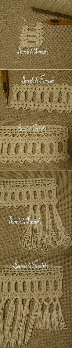 Crochet Granny, Кайма Крючком,