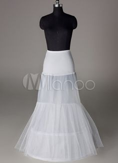 Fashion White Lycra Mermaid and Trumpet Bridal Wedding Petticoat - Milanoo.com