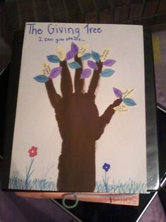 a perfect activity to go with the book The Giving Tree. The children make their own giving tree by writing things they can do for others on the leaves.