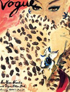 Carl Erickson (1891-1958) Conocido como 'Eric', su primer trabajo para Vogue USA fue en 1916 y continuaría trabajando para todas las ediciones de Vogue hasta su muerte. Durante los años 30, él y su rival el conde René Bouët-Willaumez (también ilustrador) sentaron las bases de un nuevo realismo en ilustración de moda.