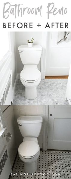 Master Bathroom Renovation - White, Bright Small Bathroom - Eating Bird Food