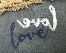 LOVE cutting die paper metal die cutting die for Scrapbooking/DIY Home hand-made album card(China (Mainland))