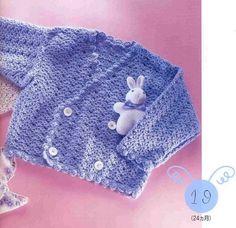 Gilet pour bébé de 18 à 19 mois , avec ses grilles gratuites !