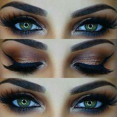 """Best Ideas For Makeup Tutorials Picture DescriptionBronze smokey ✨ Tutorial linked in my bio Details- gimme brow & Browzing both 'dark', roller lash mascara…"""" Kiss Makeup, Prom Makeup, Cute Makeup, Wedding Makeup, Hair Makeup, Bridal Makeup, Makeup Eyebrows, Eyebrow Makeup, Makeup Goals"""