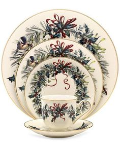 For Mom! Lenox Winter Greetings Dinnerware Collection - Fine China - Dining & Entertaining - Macy's
