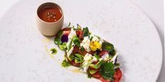 James Mackenzie adds an elegant flourish to a classic tricolore salad recipe, enhancing the simple combination of tomatoes,…
