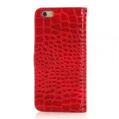 iPhone 6 punainen krokotiilinnahka puhelinlompakko Apple Iphone 6, Phone Cases, Phone Case