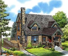 I like the lay out of the deck and outdoor living space ePlans Log Houses House Plan – Comfy Mountain Cabin – 2049 Square Feet and 3 Bedrooms from ePlans – House Plan Code Country Style House Plans, Craftsman Style House Plans, Cottage House Plans, Country Style Homes, Cottage Homes, Log Home Plans, Cabin Floor Plans, Best House Plans, Log Cabin Plans