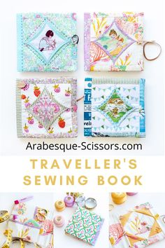 Organize a few essential travel sewing notions in this stylish Easy Cathedral Window Travel Needlebook Sewing Kit, Sewing Notions, Sewing Designs, Heather Ross, Cathedral Windows, Needle Book, Easy Sewing Projects, Sewing A Button, Arabesque