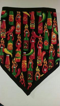 Biker Bandanas, Bandana Scarf, Hot Sauce, Holiday Decor, Scarfs, Chili, Scarves, Chile, Chilis